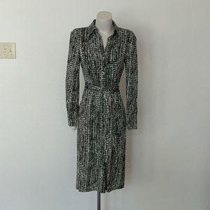 Button Up printed shirt dress